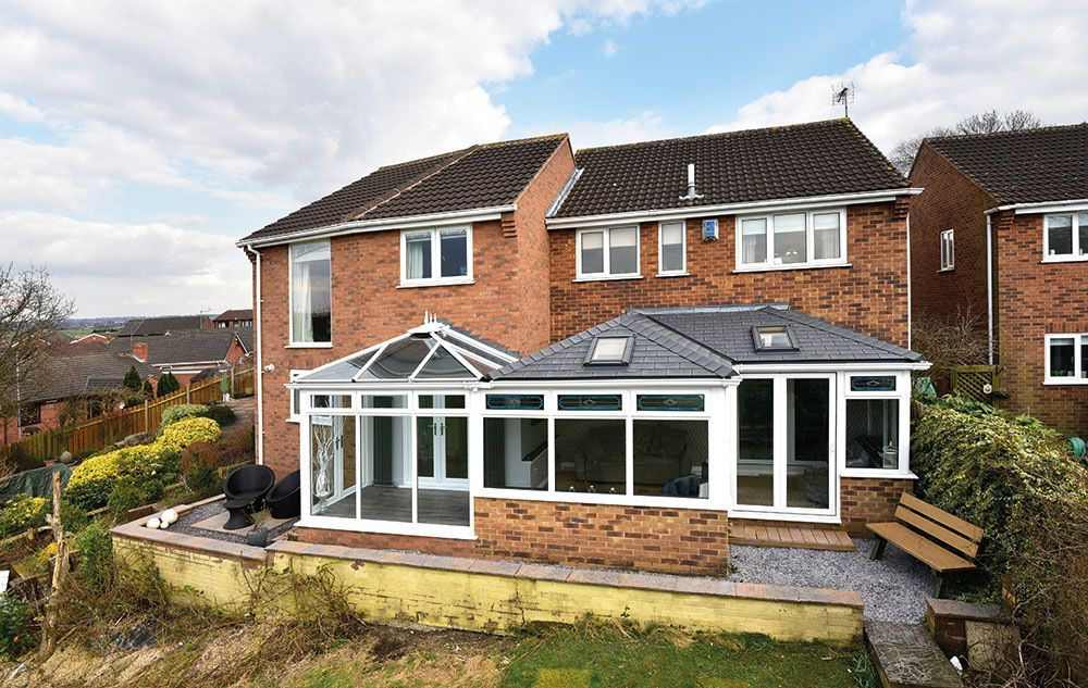 Equinox PVCu Tiled Conservatory Roof   Eurocell