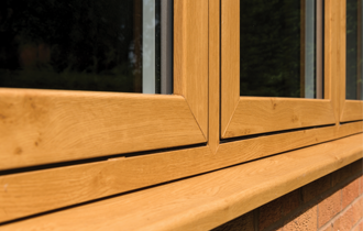 wood grain modus upvc windows and cills