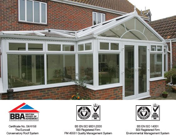 Gable-ended conservatory accreditations